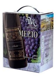 Червено Вино Мерло Търговище 3 л
