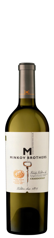 Бяло Вино Братя Минкови Шардоне 0.375 л
