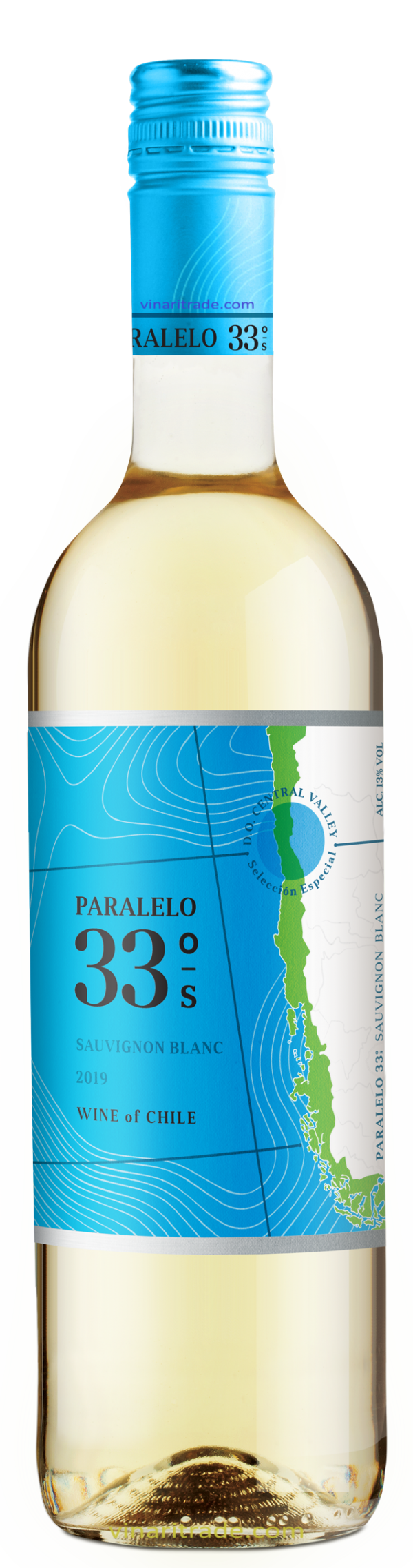 Бяло Вино 33–ти Паралел Совиньон Блан 0.75 л