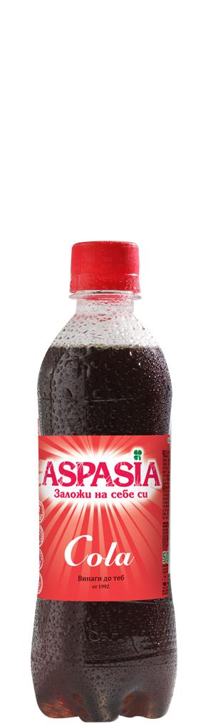 Газирана Безалкохолна Напитка Аспазия Кола 0.330 л