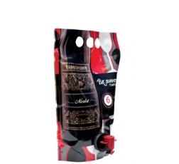 Червено Вино Мерло Резерва Търговище 1.5 л Pouch Up Pack