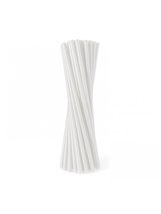 Сламки Прави Бели Ф7 500 бр в Опаковка