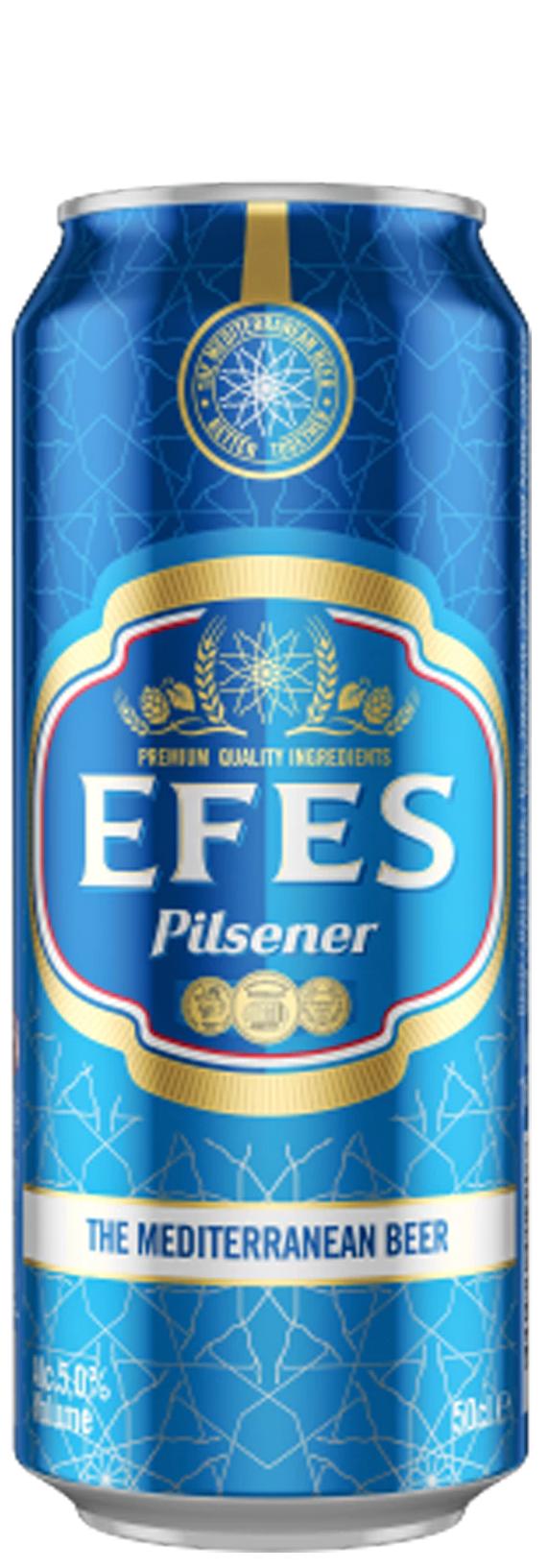 Бира Ефес 0.5 л Кен /5 + 1, Плащаш 5, Получаваш 6 кена/ на цена 1,13 лв за бр
