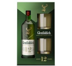 Уиски Гленфидих 12 годишен 0.7 л с 2 Чаши