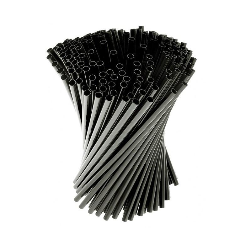 Сламки Прави Черни Ф7 500 бр в Опаковка