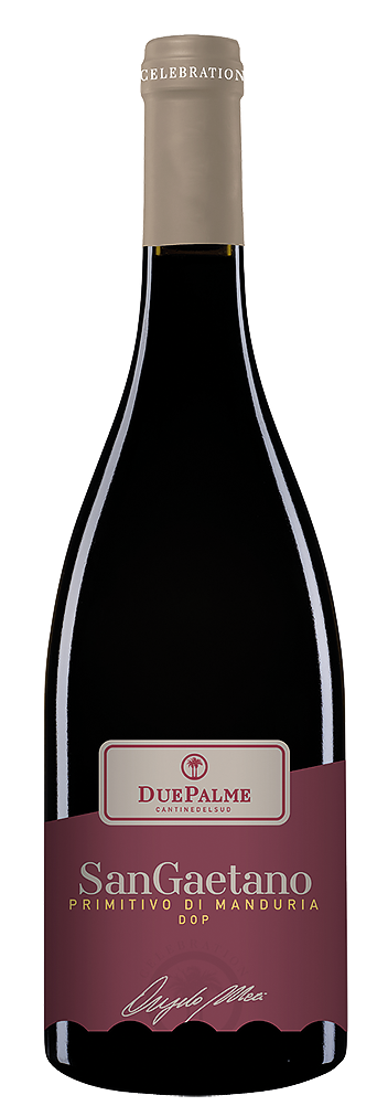 Червено Вино Сан Гаетано Примитиво ди Мандурия DOP, Кантине Дуе Палме Пулия 0.75 л