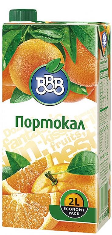 Плодова Напитка ВВВ Портокал 2 л