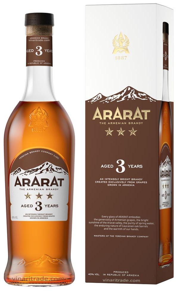 Арменско Бренди Арарат 3 годишно 0.7 л