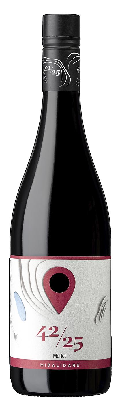 Червено Вино Мидалидаре 42/25 Мерло 0.75 л