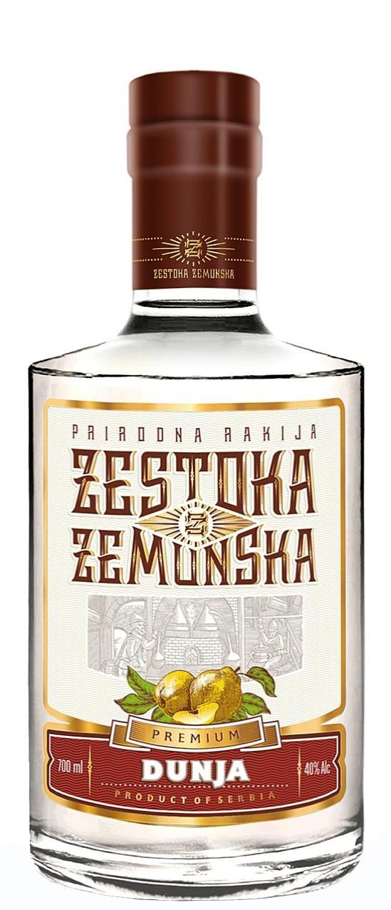 Сръбска Жестока Земунска Дюлева Ракия 0.7 л