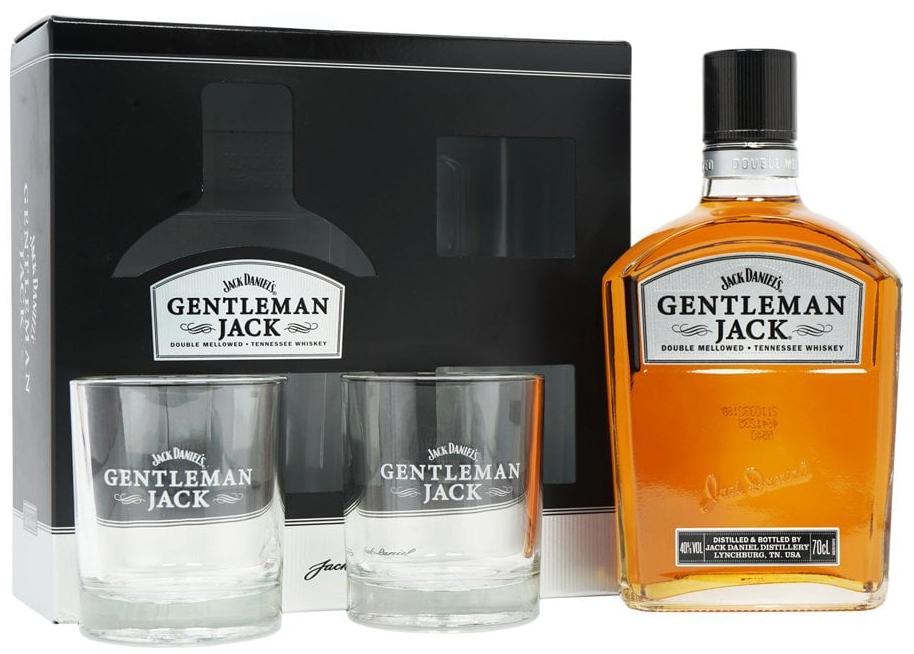 Уиски Джак Даниелс Джентълмен Джак 0.7 л с 2 Чаши