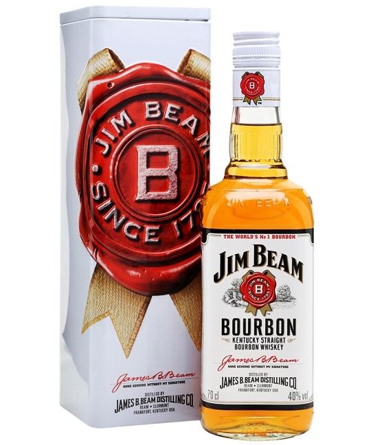 Уиски Джим Бийм 0.7 л с Метална Кутия