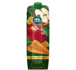 Натурален Сок ВВВ Ябълка и Морков 1 л