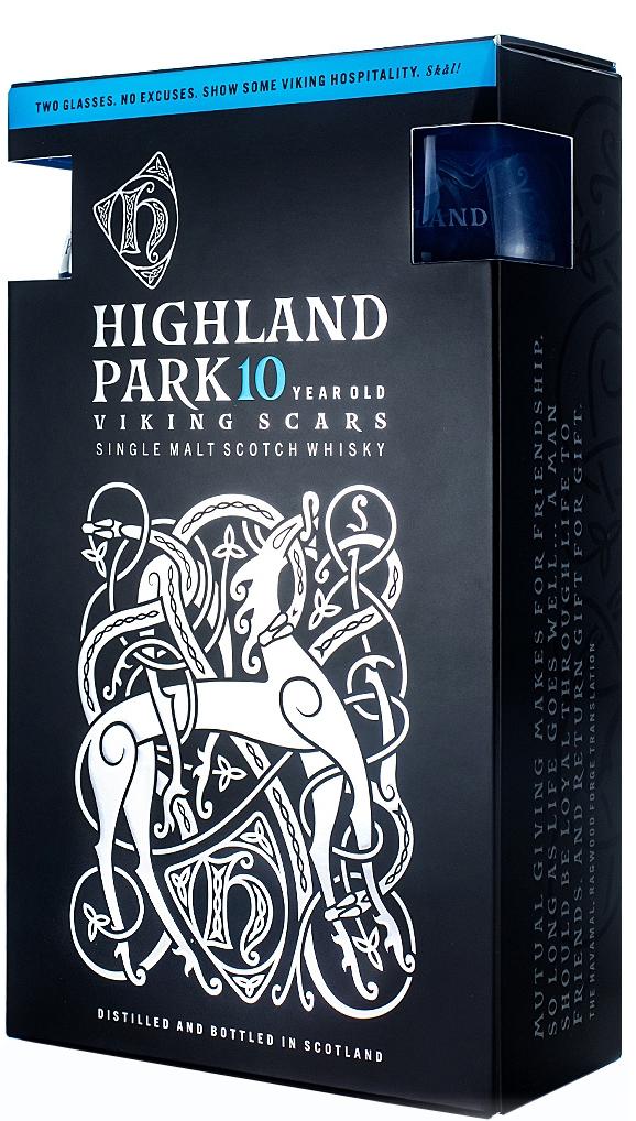 Уиски Хайленд Парк 10 годишно 0.7 л с 2 Чаши