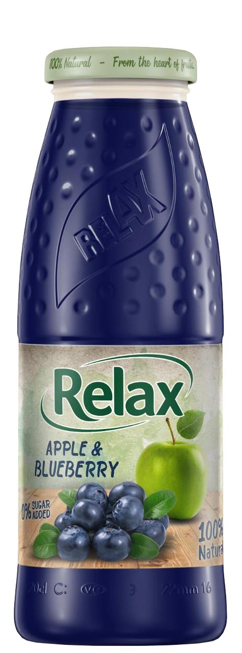Релакс Ябълка и Боровинка 100% Натурален Сок 0.200 л Стъклена Бутилка