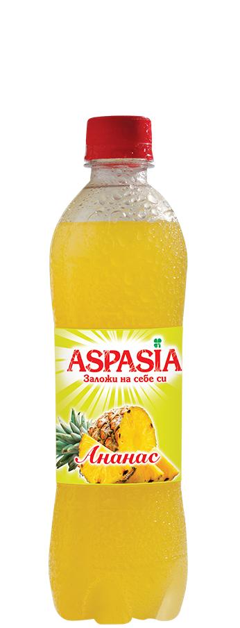 Газирана Безалкохолна Напитка Аспазия Ананас 0.5 л