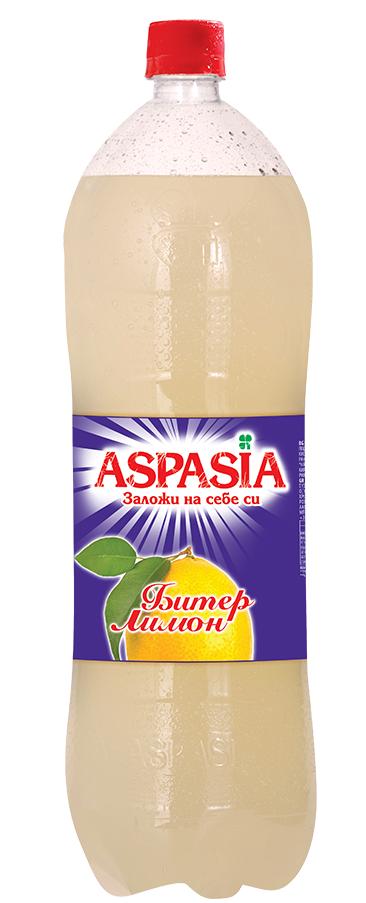 Газирана Безалкохолна Напитка Аспазия Битер Лимон 2 л