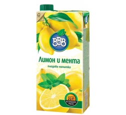 Плодова Напитка ВВВ Лимон и Мента 2 л