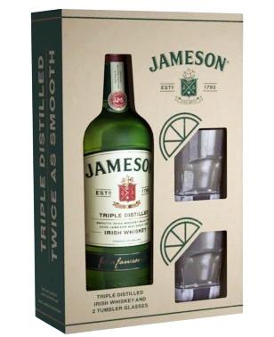 Уиски Джеймисън 0.7 л с Две Чаши