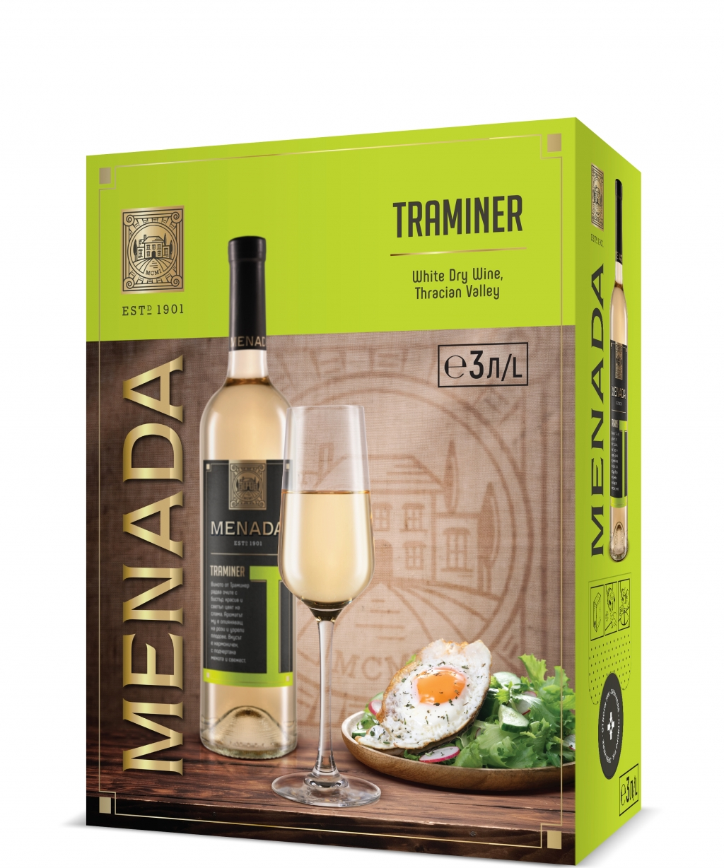 Бяло Вино Менада Траминер 3 л
