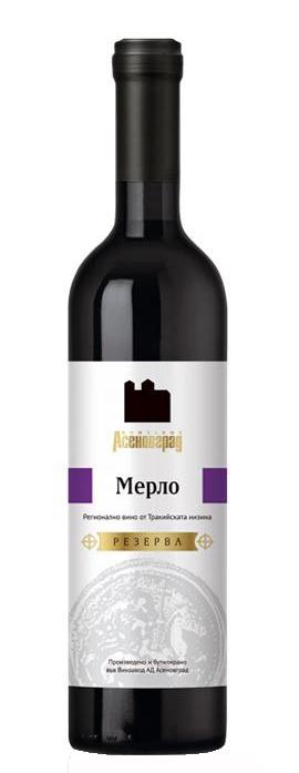 Червено Вино Мерло Резерва Асеновград 0.75 л