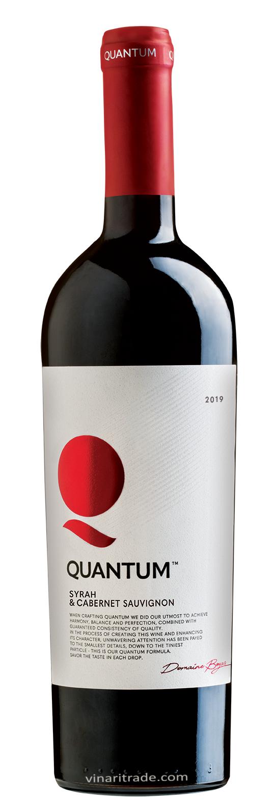 Червено Вино Квантум Сира х Каберне Совиньон 0.75 л