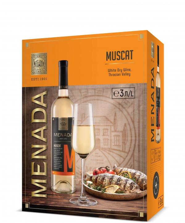 Бяло Вино Менада Мускат 3 л