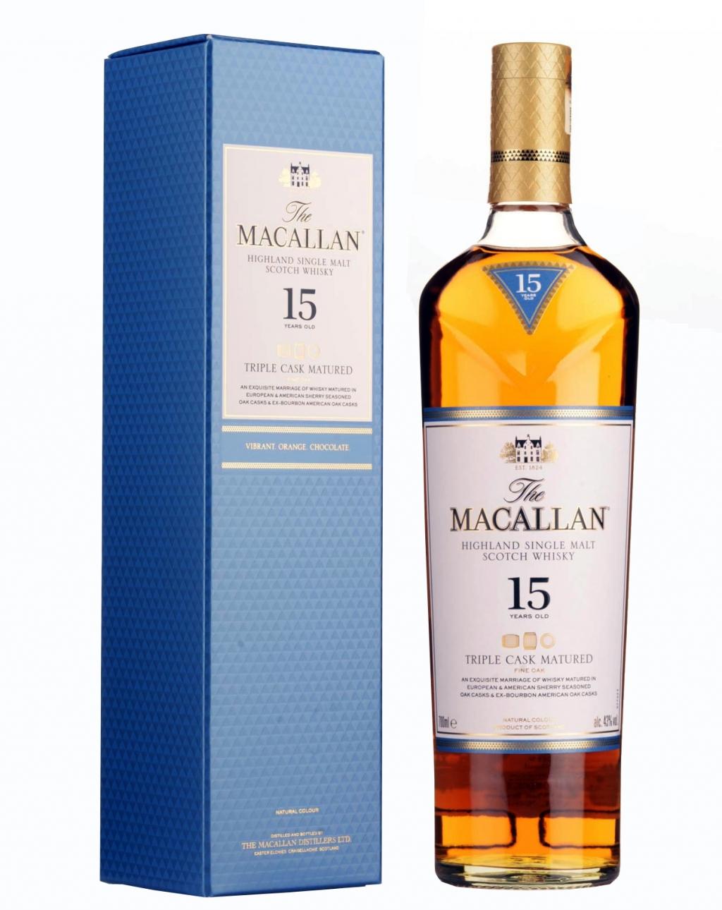 Уиски Макалън Трипъл Каск 15 годишно 0.7 л