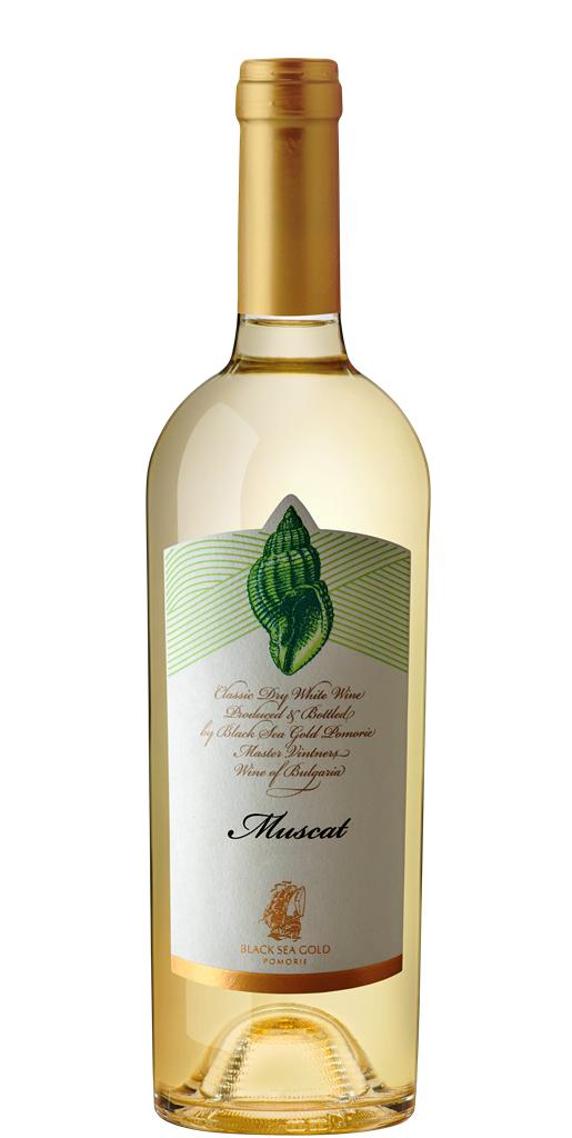 Бяло Вино Раковина Мускат Поморие 0.75 л