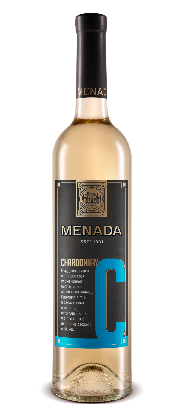 Бяло Вино Менада Шардоне 0.75 л