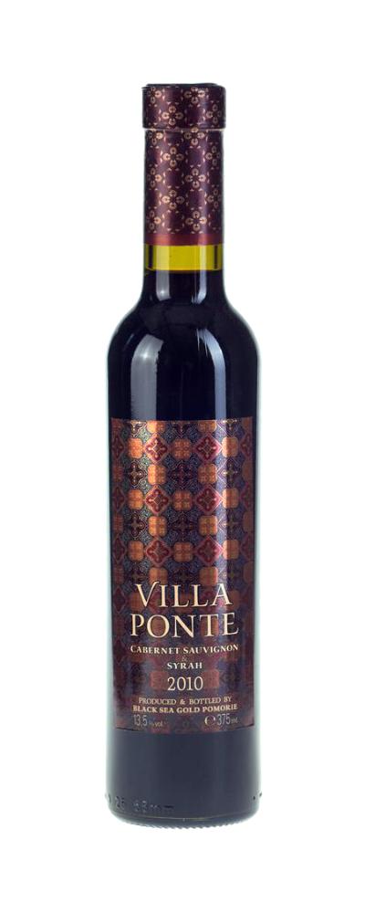 Червено Вино Вила Понте Каберне Совиньон х Сира Поморие 0.375 л