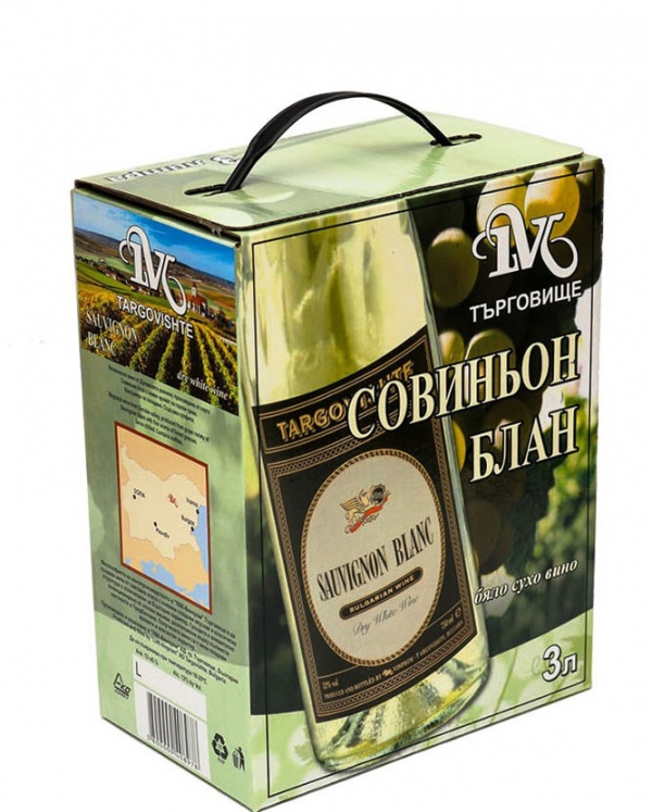 Бяло Вино Совиньон Блан Търговище 3 л