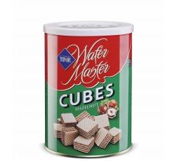 Вафлени Кубчета Мастър Лешник 220 гр Метална Кутия