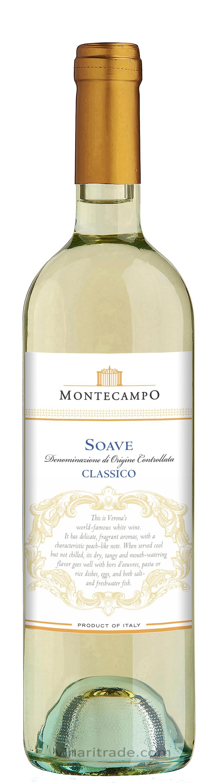 Бяло Вино Монтекампо Соаве Класико 0.75 л