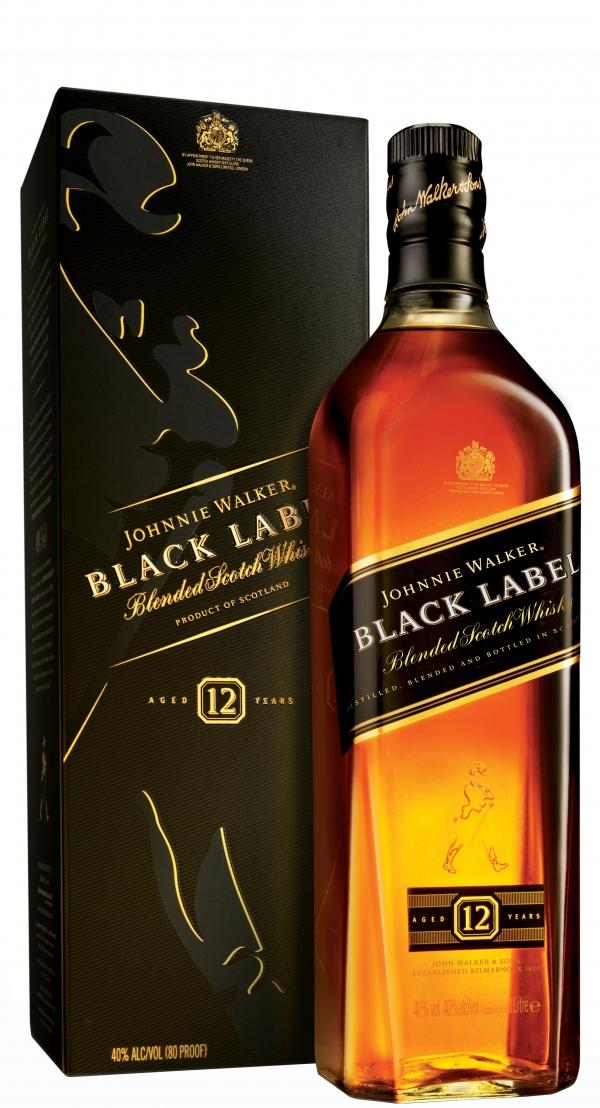 Уиски Джони Уокър Черен Етикет 12 годишно 0.7 л