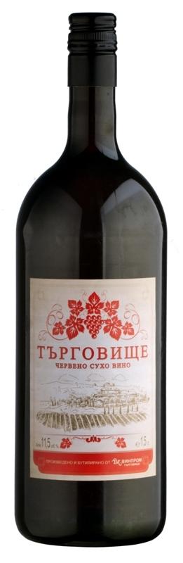 Търговище Червено Сухо Вино 1.5 л