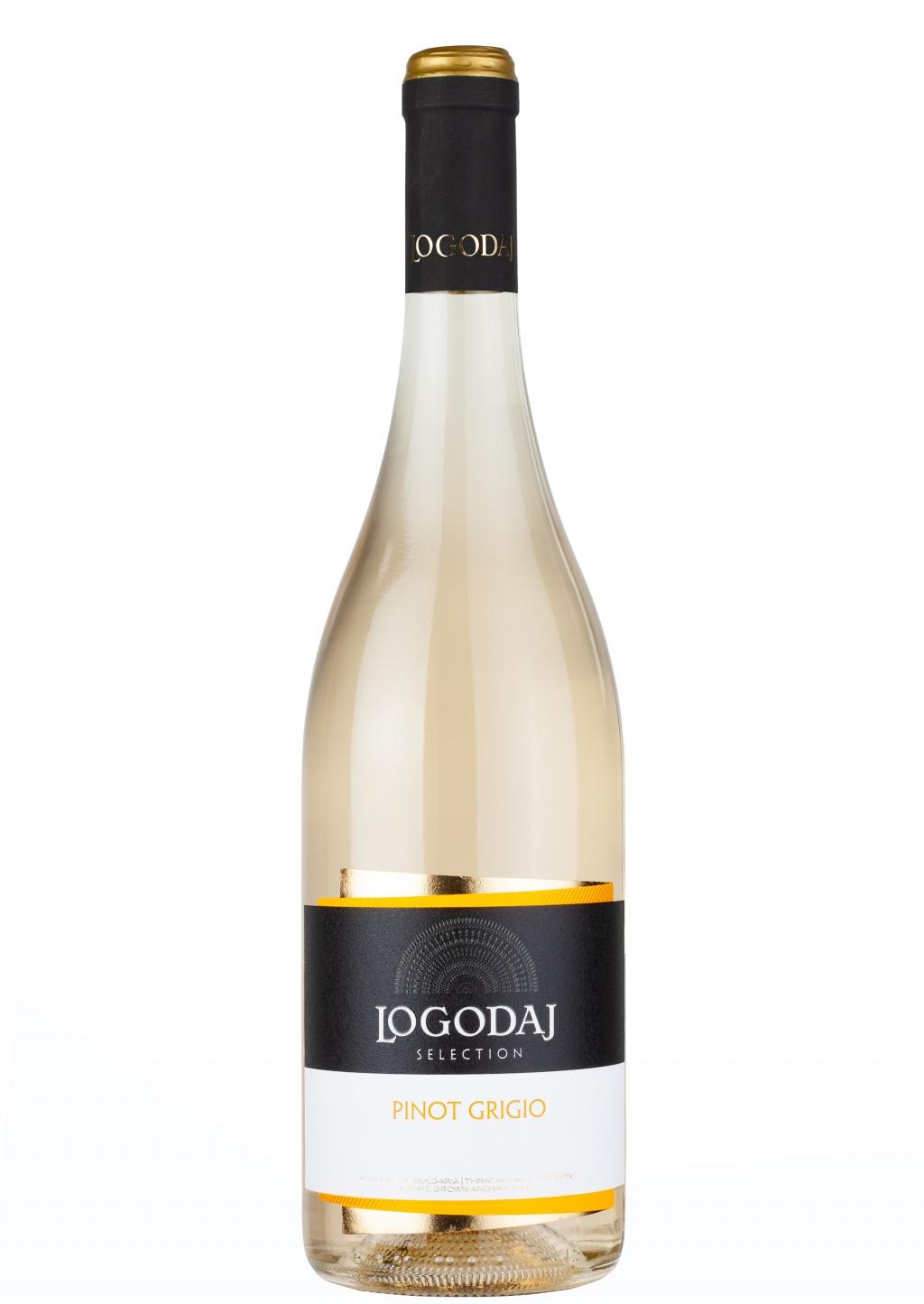Бяло Вино Логодаж Селекшън Пино Гриджо 0.75 л /Промоцията е за мин. 3 бр/