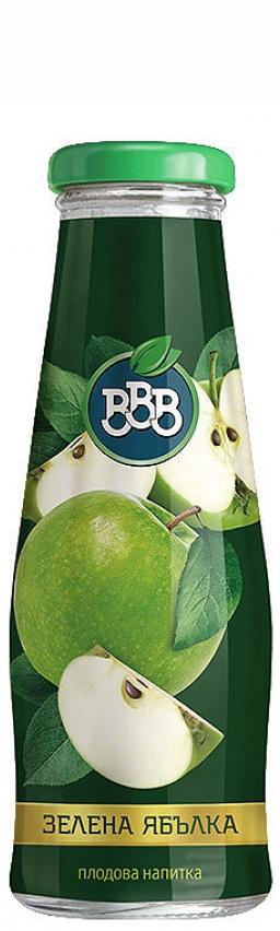 Нектар ВВВ Зелена Ябълка 0.250 л Стъклена Бутилка