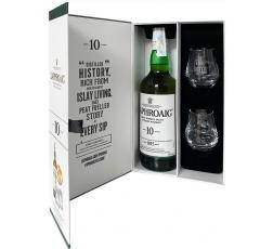 Уиски Лафройг 10 годишен 0.7 л с 2 Чаши