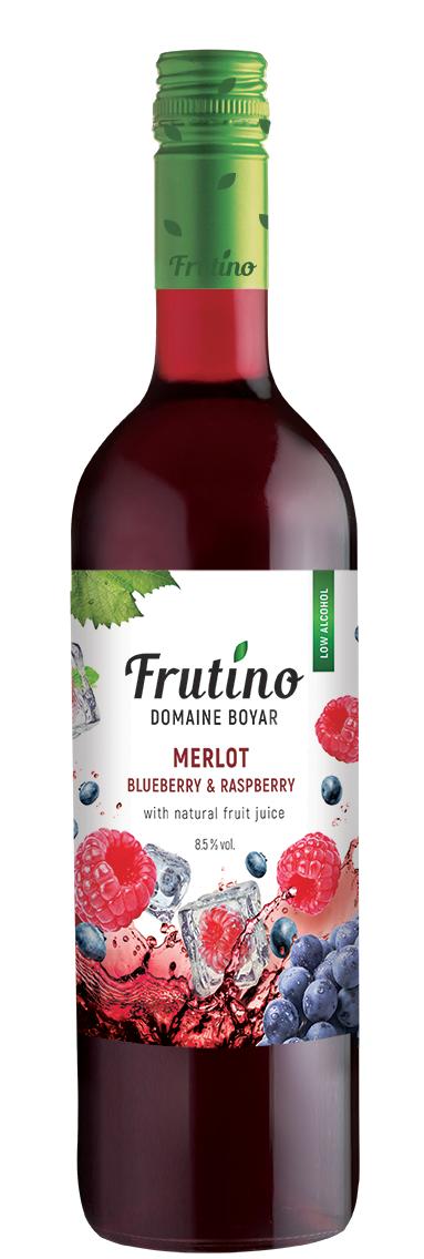 Червено Плодово Вино Фрутино Мерло с Боровинка и Малина 0.75 л