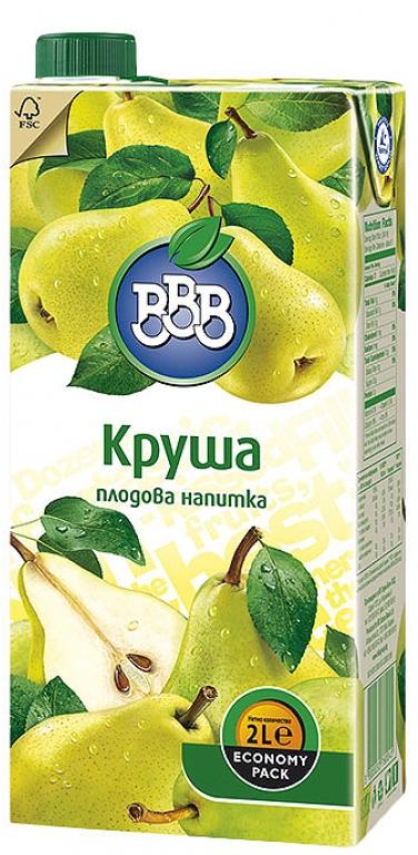 Плодова Напитка ВВВ Круша 2 л