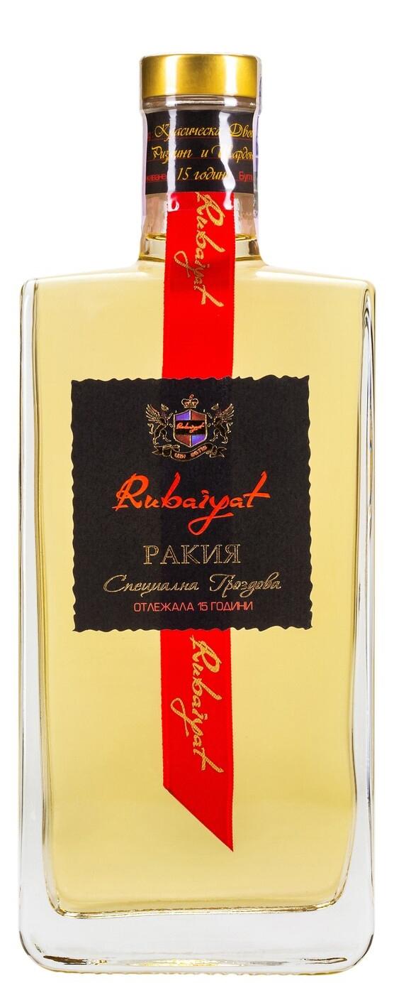 Отлежала Гроздова Ракия Рубаят 15 годишна 0.7 л
