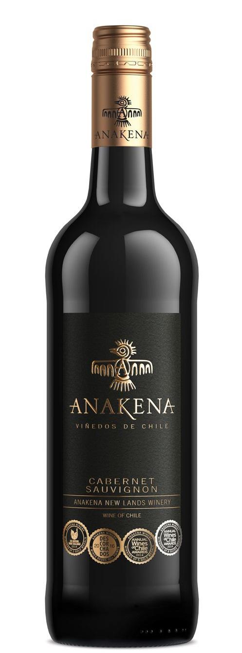 Червено Вино Анакена Каберне Совиньон 0.75 л