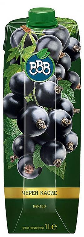 Натурален Сок ВВВ Черен Касис 1 л