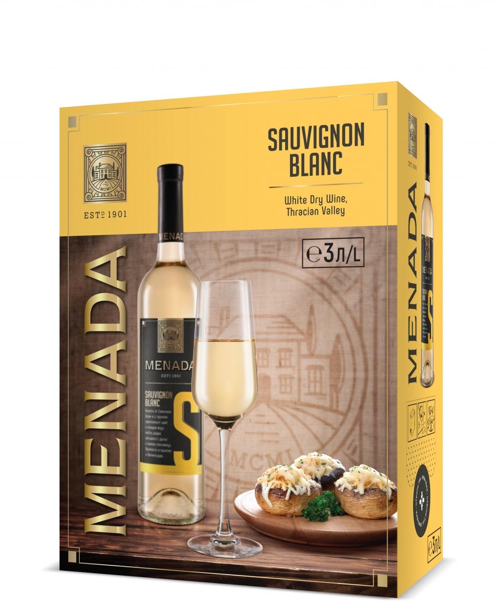 Бяло Вино Менада Совиньон Блан 3 л