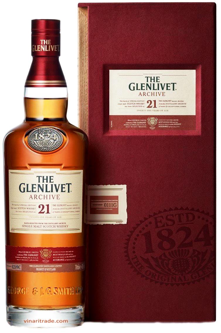 Уиски Гленливет 21 годишен 0.7 л