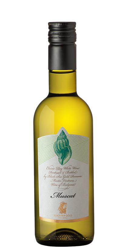 Бяло Вино Раковина Мускат Поморие 0.250 л