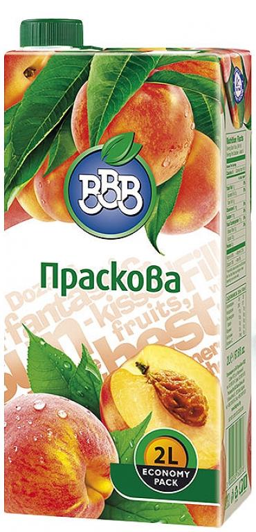 Плодова Напитка ВВВ Праскова 2 л
