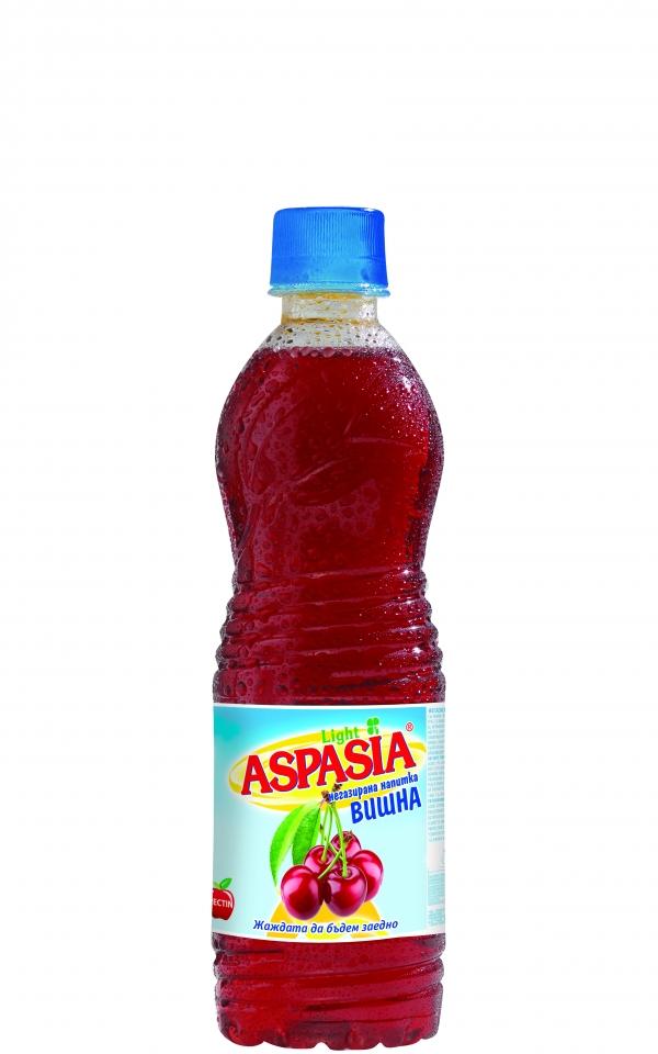 Негазирана Напитка Аспазия Вишна 0.5 л