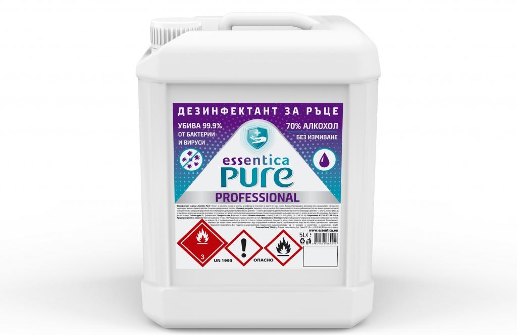 Дезинфектант за Ръце Essentica Pure 5 л